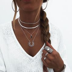 Letter A Silver Necklace Referral: 5352513892 Lotus Jewelry, Ear Jewelry, Cute Jewelry, Pendant Jewelry, Jewelery, Jewelry Accessories, Simple Jewelry, Boho Jewelry, Jewelry Shop