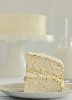 The best fluffy vanilla cake you will probably ever eat.