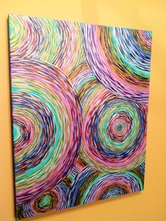 Original Abstract Painting Swirl Art by GalleryEMW on Etsy, $125.00