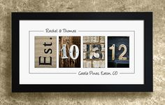 Numbers Photo Art - UNFRAMED, Wedding Date Numbers, Personalized Wedding Gift Idea via Etsy guest book idea Personalized Wall Decor, Personalized Wedding Gifts, Craft Gifts, Diy Gifts, Frame Wall Decor, Wedding Frames, Our Wedding, Wedding Ideas, Gift Wedding