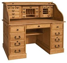 Find this product and more at www.countrymarketplaces.com  54''Oak Deluxe Executive Rolltop Desk Antique Harvest. Vintage turn of the century look with 25 drawers to organize your office;two deep file drawers with heavy duty metal extension glides;lo (Henri Nobles invites you to experience advertisement the Best Digital Agency in the Industry)