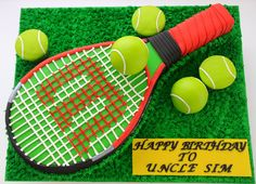 at sculpting a tennis racket out of cake and throw in some tennis . Tennis Cake, Tennis Party, Gorgeous Cakes, Amazing Cakes, Dad Cake, Sport Cakes, Fashion Cakes, Colorful Cakes, Novelty Cakes
