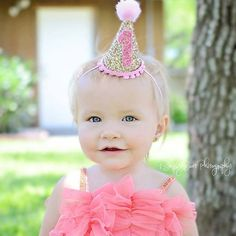Ready to ship Mini Glittery Birthday Girl Party by Kutiebowtuties Baby Girl Birthday Cake, Ballerina Birthday Parties, Elephant Birthday, Birthday Party Hats, 1st Birthday Girls, Ballerina Party Supplies, Twin Cake Smash, Birthday Backdrop, Pink Parties