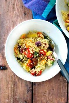 Roasted Vegetable Couscous www.SimplyScratch.com #healthy #vegetables