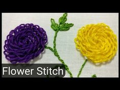 Flower Hand Embroidery Stitch By Ek Indian Ghar - YouTube