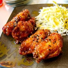 Korean Fried Chicken Wings Cook up a batch of these delicious Korean spicy wings for your next party or get together ... certain to be a hit!