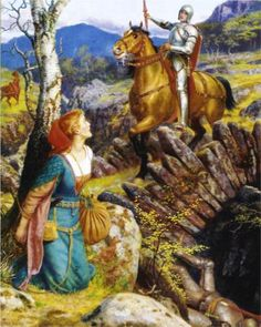 The Overthrowing of the Rusty Knight - Arthur Hughes