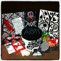 classy black and white big little gifts