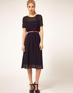 ASOS Midi Dress with Belt