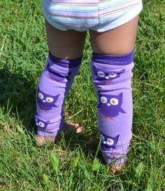 Grey Bambino Land Leg Warmers Solid Color