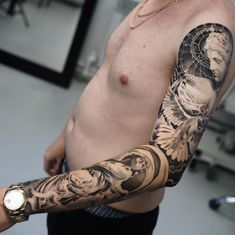 A sleeve tattoo can often be described as a combination or collection of various designs strategically placed on an indi.