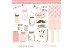 Check out 14 Hand Drawn Mason Jars by GraphicMarket on Creative Market http://crtv.mk/fOMU
