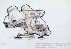 spaceship design Ron Cobb