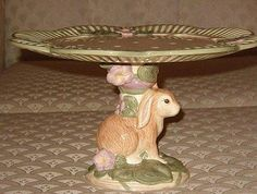Sitting Easter Bunny cake plate pedestal base...link no longer works..but really like this