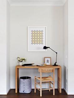 home office com móveis de madeira