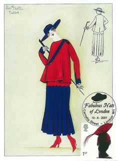 Henri Bendel Fashion Designs 1915 - From Tailores Suits, Spring/Summer 1915 Brooklyn Musuem of Art Library, Special Colletions