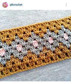 Instagram @q8crochet - crochet variation on granny stitch design