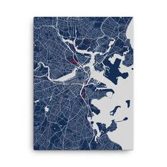 New England Patriots Boston Map Canvas
