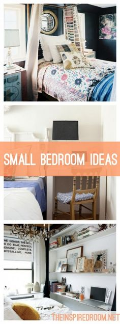 Small Bedroom Ideas  I love love the first one ! ! ♥