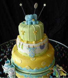 Beautiful idea for baby cake!!!