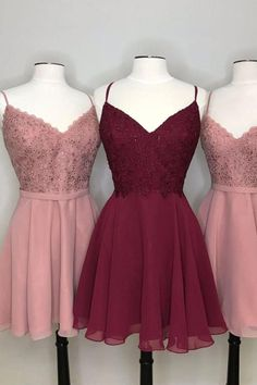 Simple Homecoming Dresses, Burgundy Homecoming Dresses, Cute Prom Dresses, Simple Dresses, Pretty Dresses, Dress Prom, Simple Party Dress, Beautiful Dresses, Casual Dresses