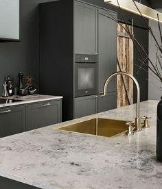 Modern Luxury Kitchens For A Grand Kitchen Best Kitchen Designs, Modern Kitchen Design, Interior Design Kitchen, Shaker Kitchen, Kitchen Layout, Black Kitchens, Luxury Kitchens, Grand Kitchen, Diy Kit