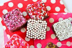 Easy Chocolate Candies I have a super easy and fun way for you to make chocolate candies, and it uses one of my favorite things, sprinkles! This is so simple that you can bring the kiddos into the kitchen...