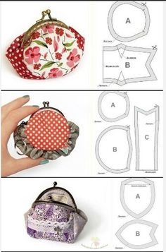 Best 11 diy, tutorial, how to, instructions – SkillOfKing. Diy Coin Purse, Coin Purse Pattern, Small Coin Purse, Wallet Pattern, Purse Patterns, Zip Pouch Tutorial, Coin Purse Tutorial, Diy Tutorial, Patchwork Bags