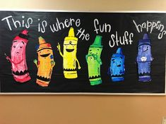 I don't wanna brag buttttt. the bulletin board don't lie 😂🤷🏻♀️. Made these little crayon friends last year (inspired by the amazing… Crayon Bulletin Boards, September Bulletin Boards, Library Bulletin Boards, Back To School Bulletin Boards, Preschool Bulletin Boards, Friends Bulletin Board, Bullentin Boards, Class Decoration, School Decorations