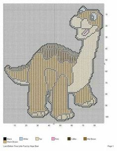 little foot cross stitch pattern