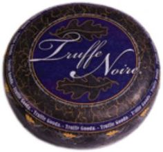 Truffe Noire - Truffle Cheese -  This creamy smooth Gouda style cheese has a generous sprinkling of delicate black Italian summer truffles. Because the age-old European tradition, of serving several cheeses on a tray to form a separate course at the end of the meal, has made it onto the menus of US. top restaurants, this popular cheese appears on many after dinner cheese trays. Truffle lovers find it most delicious!
