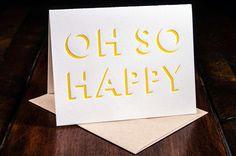 Happy // Ink Meets Paper