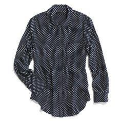 Dotted Silk Boyshirt - silk boyshirts - Women's SHIRTS & TOPS - Madewell