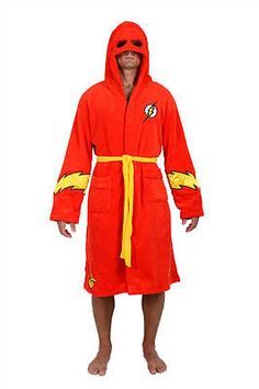 Sleepwear and Robes 166697  Dc Comics Flash Red Hooded Fleece Robe -  BUY IT 8f67939b0