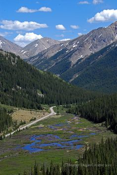"Independence Pass, Colorado, the ""other"" way to get to Aspen.  Went over this pass many times in summer and sometimes even in......winter.  Scary but something else."
