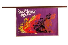 Vintage Ravi Shankar Music Poster
