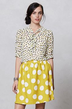 edna blouse and cute sunny polka dot skirt