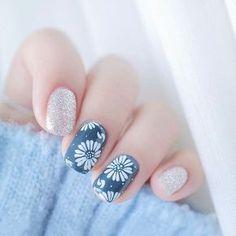 24pcs Glitter Painting Cherry Blossom Floral Design