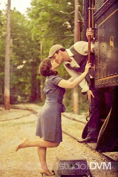This pose on the train has always been a favorite. Love the vintage :)