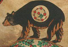 native american bear. symbolizes strength.