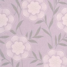 Flora Lavender Floral Wallpaper - Purple Flower Wall Coverings by Graham & Brown | Graham & Brown