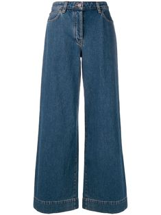 The Row high waisted wide leg jeans - Blue - Outfits Swaggy Outfits, Cute Casual Outfits, Pretty Outfits, Blue Outfits, Wide Leg Jeans, High Jeans, Mode Style, Clothing Items, Aesthetic Clothes