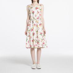 WOMEN Ines Linen Cotton Printed Dress