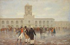 25 de mayo por F. Fortuny - Argentina – Wikipédia, a enciclopédia livre > A Revolução de Maio forçou a renúncia do vice-rei e substituiu seu governo pela Primera Junta, o primeiro governo argentino independente.