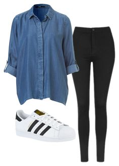 A fashion look from May 2016 featuring Topshop leggings and adidas sneakers. Browse and shop related looks. Cute Comfy Outfits, Cute Outfits For School, Outfits For Teens, Pretty Outfits, Stylish Outfits, Cool Outfits, Black Outfits, Girly Outfits, Teenager Outfits