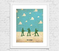 Toy Story Poster minimalista Retro imprimir 11 1/2 por PosterEmpire, $20.00
