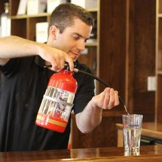 Fire Extinguisher Cocktail Shaker Puts Out The Most Blazing Barroom Thirsts -  #drinks #fire #firemen