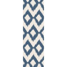 Art of Knot Huslia 2'6 inch x 8' Blue Runner