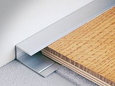 No skirting required - Terminal edge profile for wooden and laminate floors WOODTEC LT - PROFILITEC