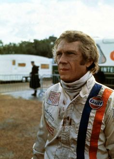 Steve McQueen on set at Le Mans 1970